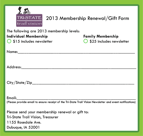 membership renewal form2013